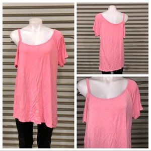 Pink off shoulder top size Large